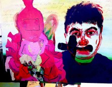 Self portrait As Coco The Clown/Joseph Stalin