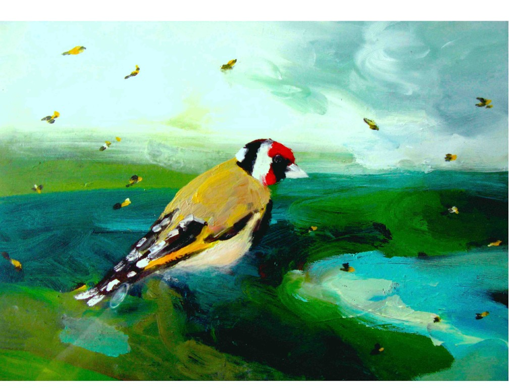 Goldfinches On The South Downs