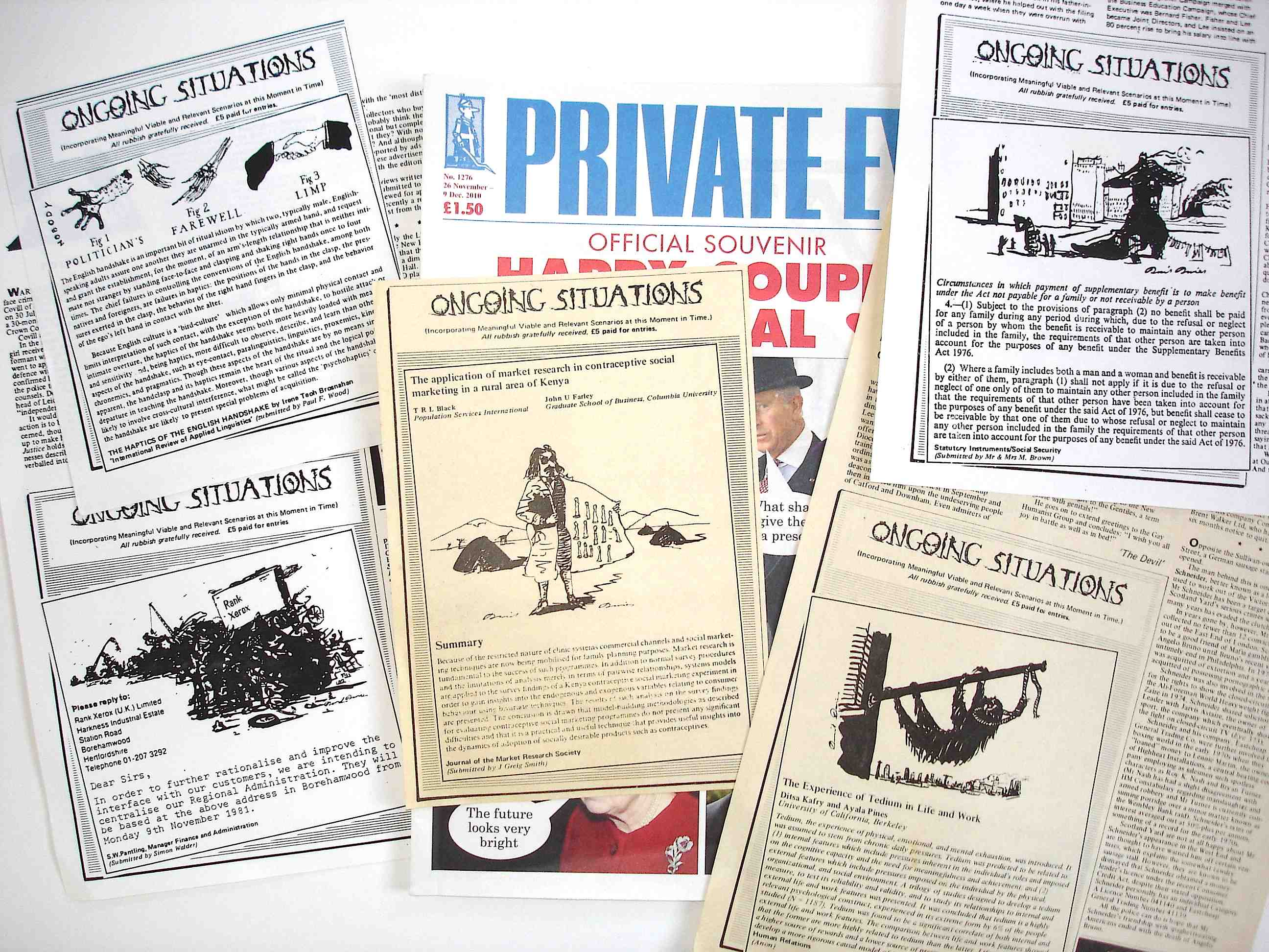 Private Eye: 'Ongoing Situations', 1979-83