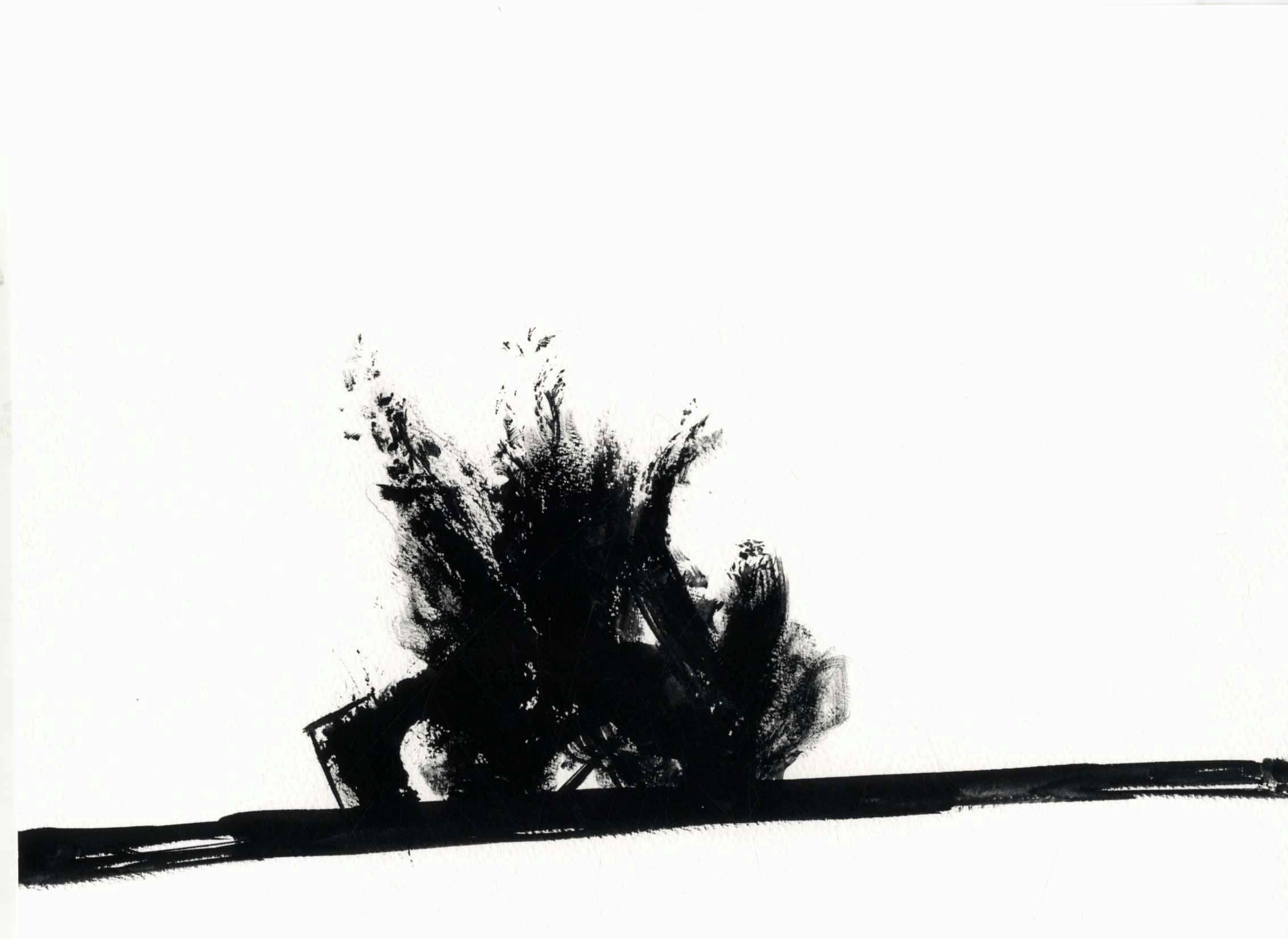 'Now & When'  28 cm x 38 cm [80  x gouache on paper.  Installation - detail]
